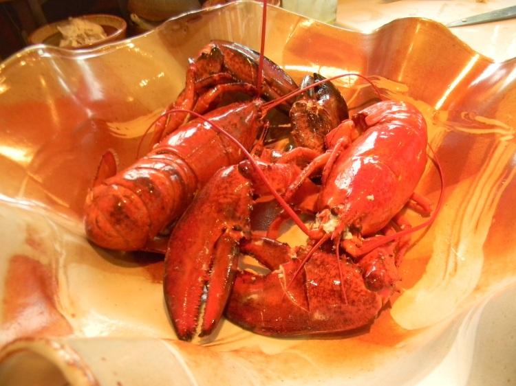 Lobster on shino