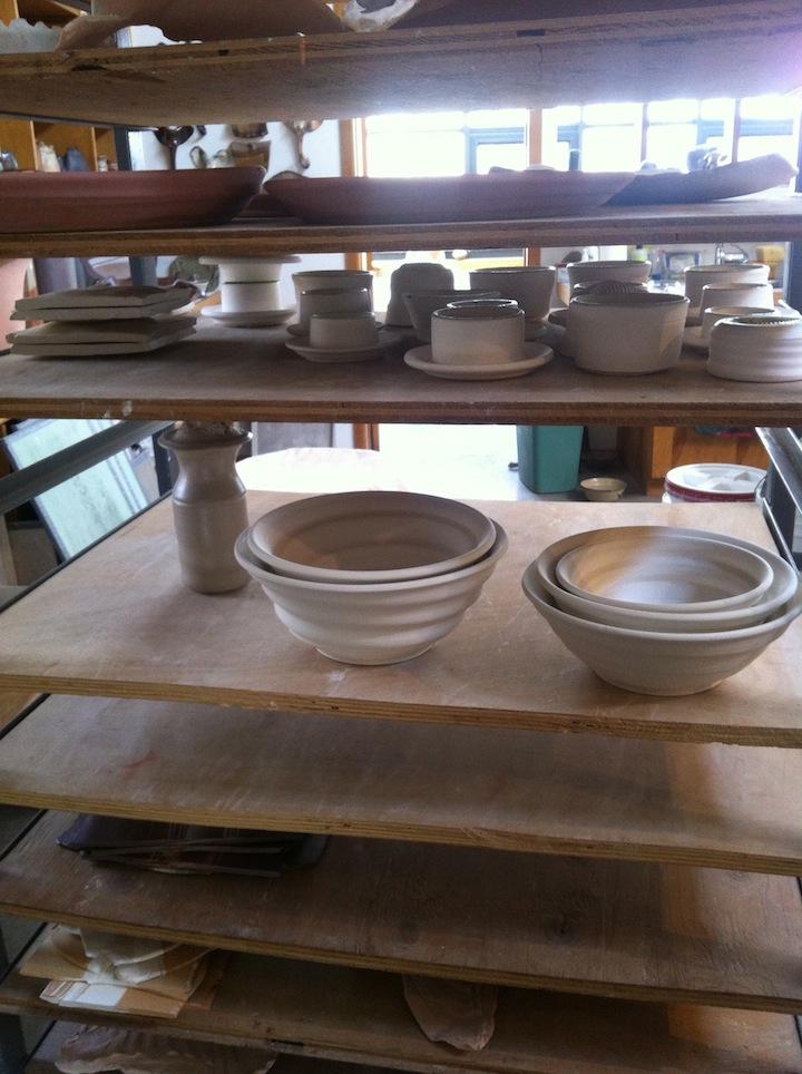 pots drying